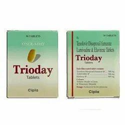 Tenofovir Disoproxil Fumarate Lamivudine and Efavirenz Tablets