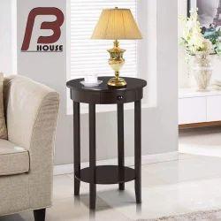 Round Shape Bedside Table, Number of Drawer: 1