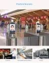 Face Recognition Thermal Camera With Turnstile Stand