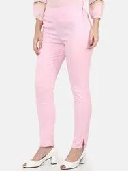 Regular Fit Women Pink Trousers