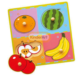 Wooden Flat Puzzle - Fruits