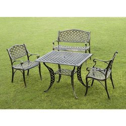 3 Seater Cast Iron Table Chair