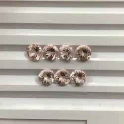 AAA Natural Pink Morganite Faceted Round Loose Gemstones