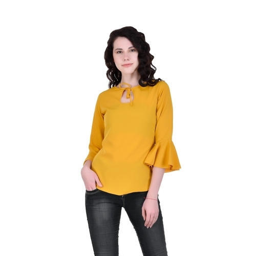 a284d5838781 Women Yellow Bell Sleeve Top, Size: S & M, Rs 249 /piece | ID ...