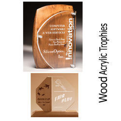 Wood Acrylic Trophies