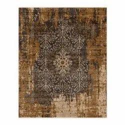 Rectangular Designer Printed Silk Carpet, Size: 5 X 8 feet