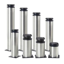 Polished Stainless Steel Sofa Legs, Size: 4 Inch
