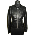 Quilted Women Leather Jacket