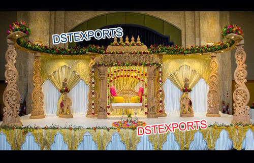 South indian themed wedding decoration in ragho majra patiala dst south indian themed wedding decoration junglespirit Images