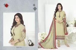 Embroidered Collar Neck Suhati Salwar Suit Fabric