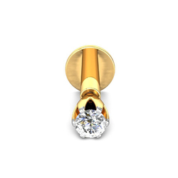Gold Single Nose Pin