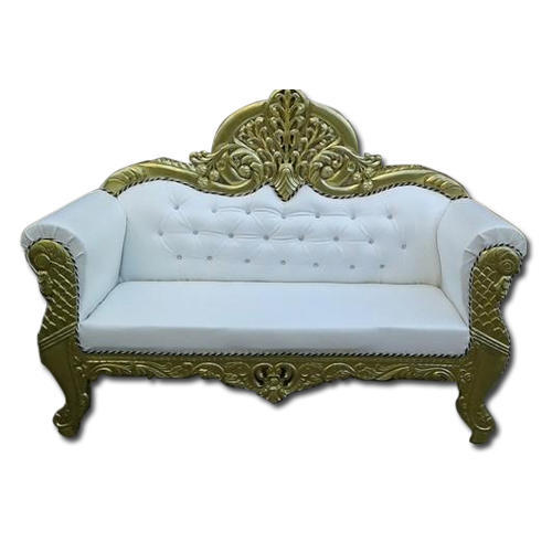 White And Golden Indian Wedding Sofa