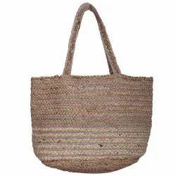 Jute Brown Shoulder Strap Large Bags for Women