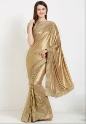 Dusty Gold Stylish Designer Saree