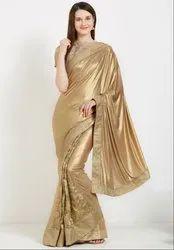 Dusty Gold Stylish Designer Saree
