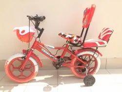 Red Plastic Kids Bicycle 14.1.75 Double Gaddi