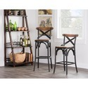 Industrial Reclaimed Wood and Iron Bar Stool