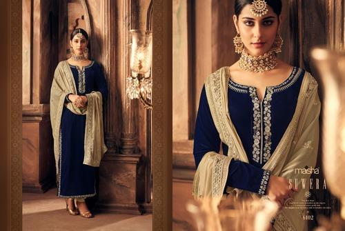 e9cd95443b Velvet Party Wear Salawar Kameez, Rs 2845 /piece, Krina Fashion | ID ...