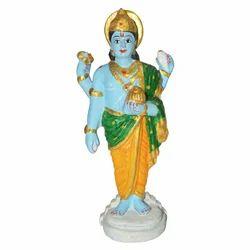 Metal Painted Vishnu Statue