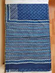 SICO Chanderi  Saree Indigo