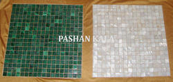 Mosaic Mother of Pearl and Malachite Tiles