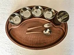 Smokey Copper Hmrd Rajdhani Thali Set