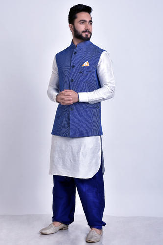 ce7a9aefbc Men's Silk White Pajama- Nehru Jacket, Rs 4500 /set, Diwan Bros | ID ...