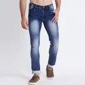 Men Blue Washed Jeans