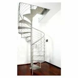 Stainless Steel SS Spiral Staircase, For Home