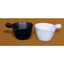 White, Black Melamine Serving Spoon, For Home, Packaging Type: Box