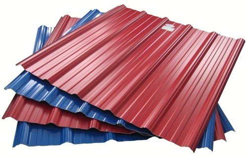 Steel Color Coated Bhushan Metal Roofing Sheet, Thickness Of Sheet: 0.20 to 0.60 mm +/- 0.03