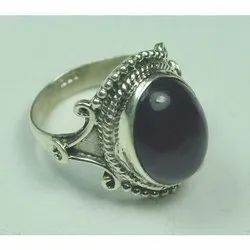925 Sterling Silver African Amethyst Fashion Rings