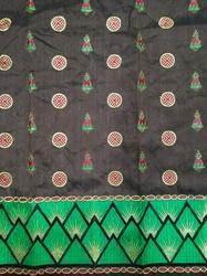 Mekhela Chadar Cotton Embroidery Fabric