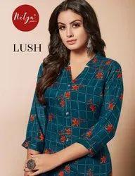 Lt Nitya Lush Rayon Silk Printed Ladies Kurtas