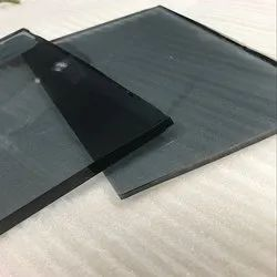 Plain Black Tinted Float Glass, Glass Thickness: 12 Mm