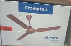 Brown Crompton Ariyabriz Fans, Fan Speed: Hi Speed, Power: 70