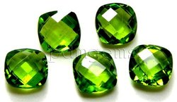 Natural Peridot Cushion Cut Gemstone