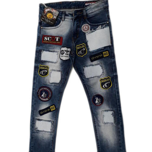 Regular Fit Casual Wear Denim Fancy Mens Jeans, Waist Size: 32 And 36