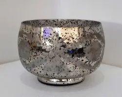 Antique Silver Glass Pot