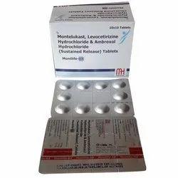 Monetelukast Levocetirizine Hydrochloride and Ambroxol Hydrochloride Tablets
