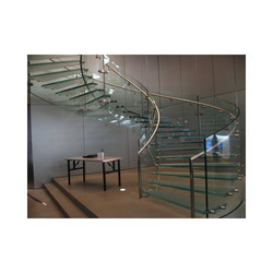 Home Staircase Transparent Glass