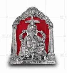 Silver Plated Ganesh ji Photo Frame