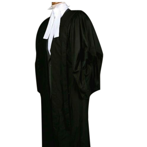 Cotton Black Advocate Gown, Fineotex Aneri LLP | ID: 17310309612