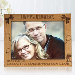 Personalized Wooden Engraved Photo Frame - Couple