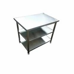 3 Shelf Stainless Steel Kitchen Work Table