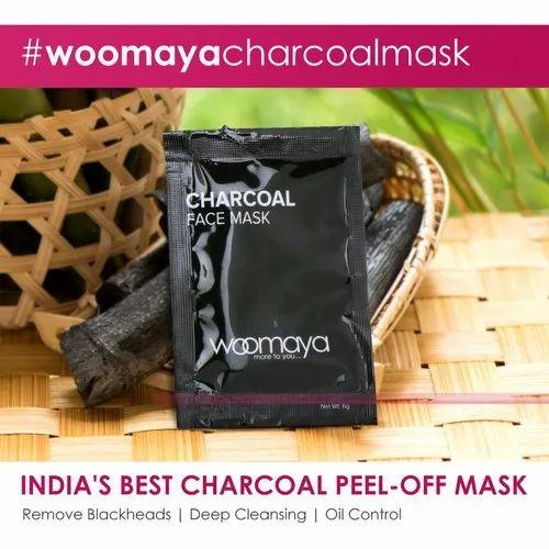 Woomaya Charcoal Peel Off Mask Sachet (Pack Of 1)