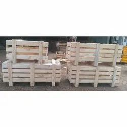 Edible Termite Resistant Wooden Pallet Box, for Shipping, Box Capacity: 1-200 Kg