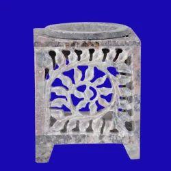 Soapstone Square Aroma Lamp