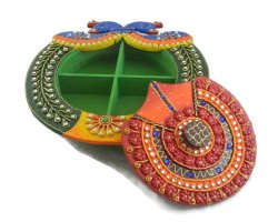 Peacock Handcrafted Dryfruit Box