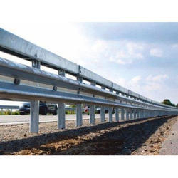 MS Double Beam Crash Barrier